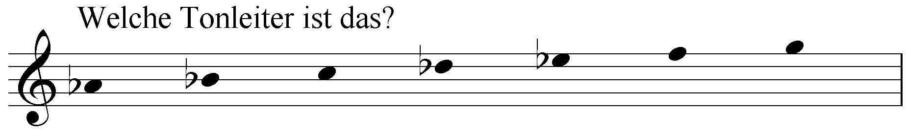 Welche Tonleiter ist das: as b c des es f g?