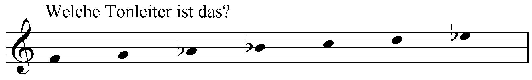 Welche Tonleiter ist das: f g as b c d es?