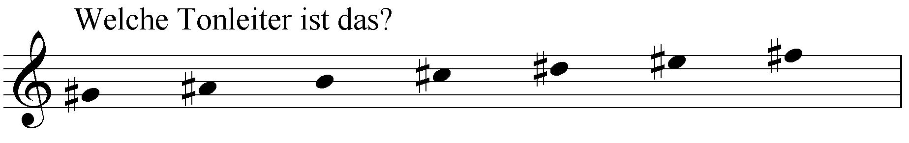 Welche Tonleiter ist das: gis ais h cis dis eis fis?
