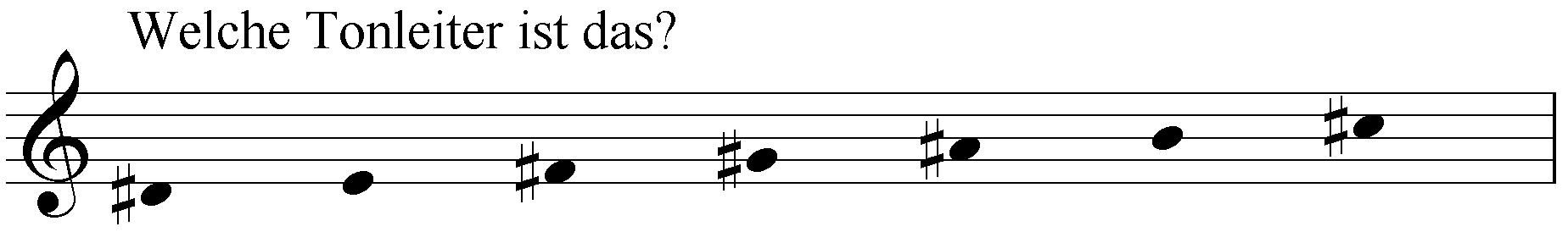 Welche Tonleiter ist das: dis e fis gis ais h cis?