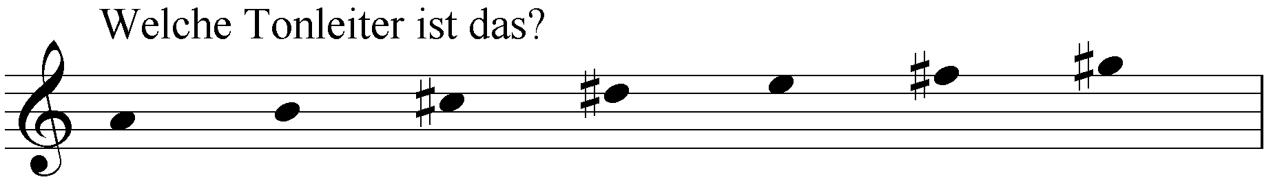 Welche Tonleiter ist das: a h cis dis e fis gis?