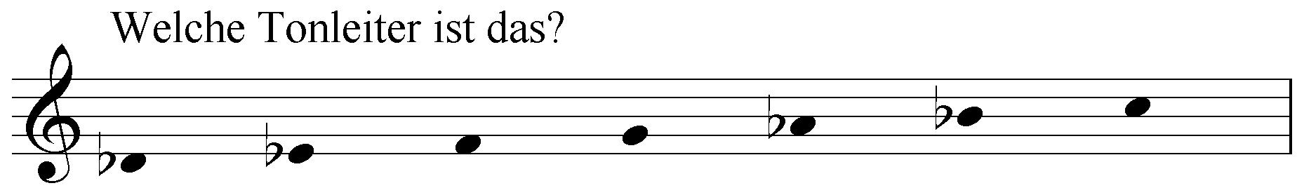 Welche Tonleiter ist das: des es f g as b c?