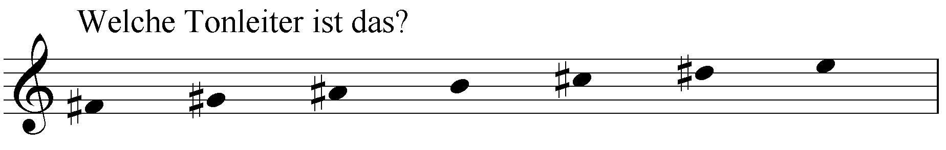 Welche Tonleiter ist das: fis gis ais b cis dis e?