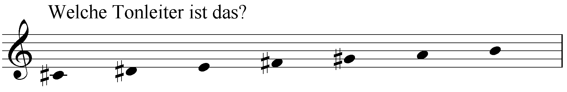Welche Tonleiter ist das: cis dis e fis gis a h?