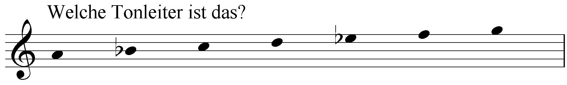 Welche Tonleiter ist das: a b c d es f g?