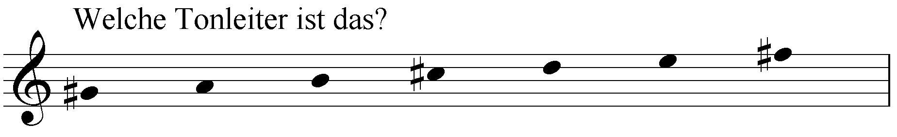 Welche Tonleiter ist das: gis a h cis d e fis?