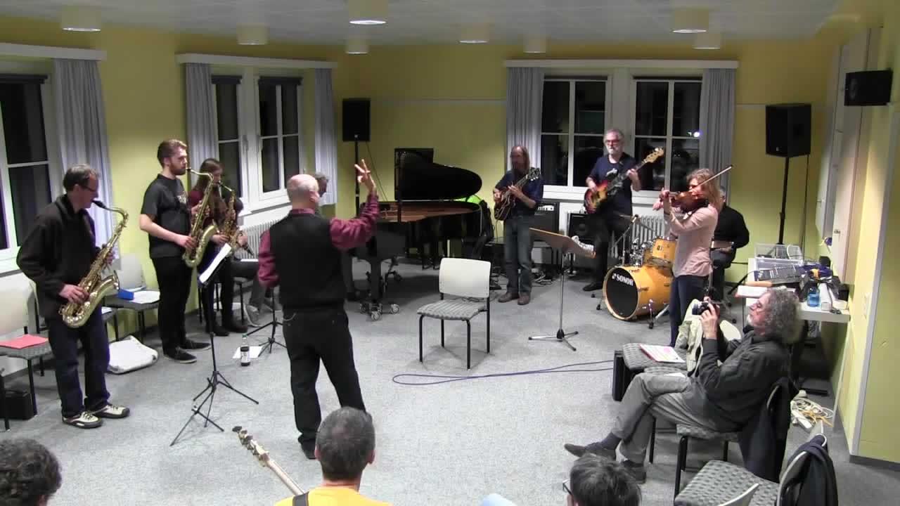 Jazzworkout 2016 - Improvisation über die Standards - Probe mit allen Teilnehmern