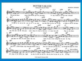 Petter's Blues - Komposition und Text: Bernd Michael Sommer - Blues in F mit typischen Bebop-Phrasen