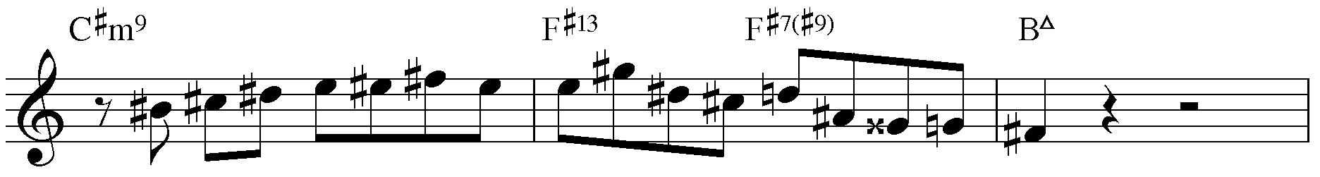 Jazzpattern IIm7 - V7 - IMaj7. H-Dur.