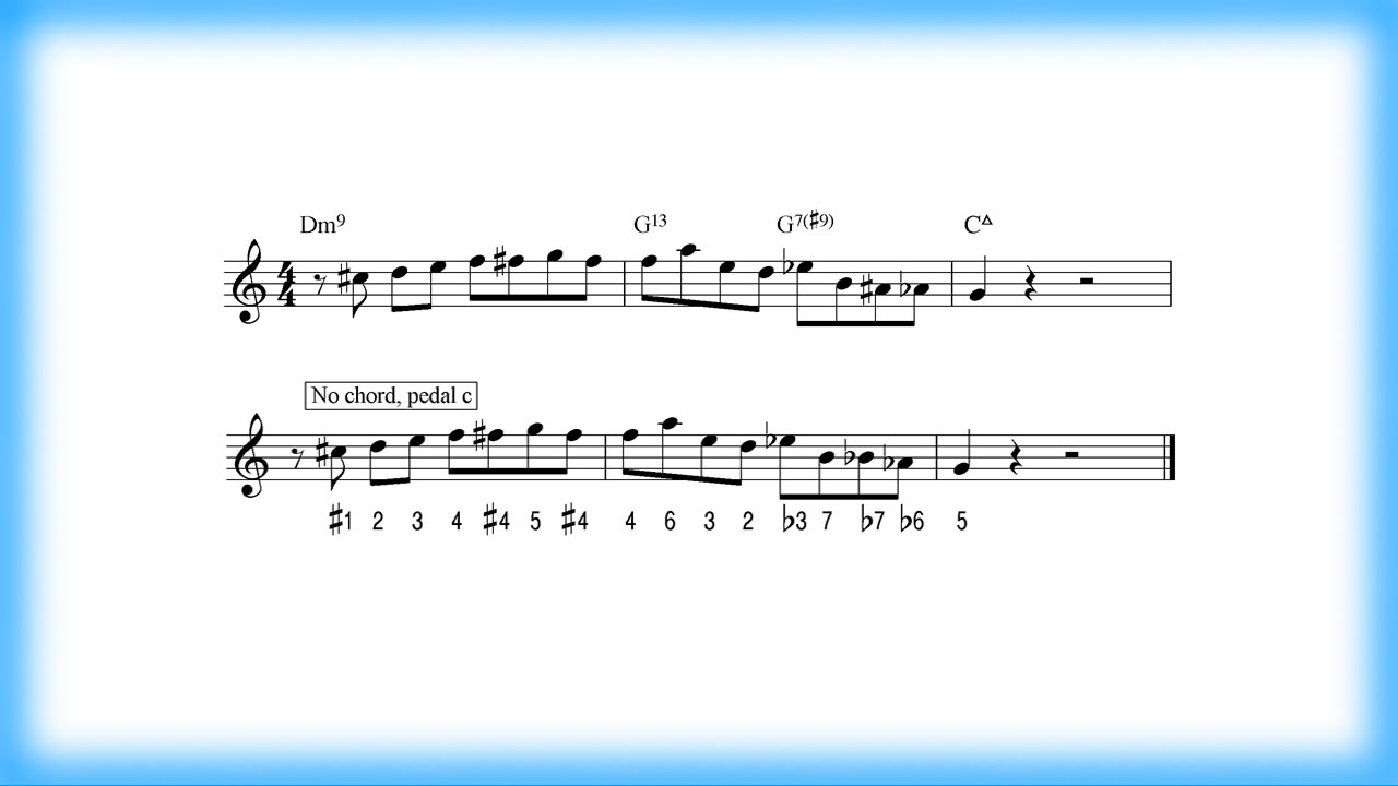Transponieren eines Jazzpatterns