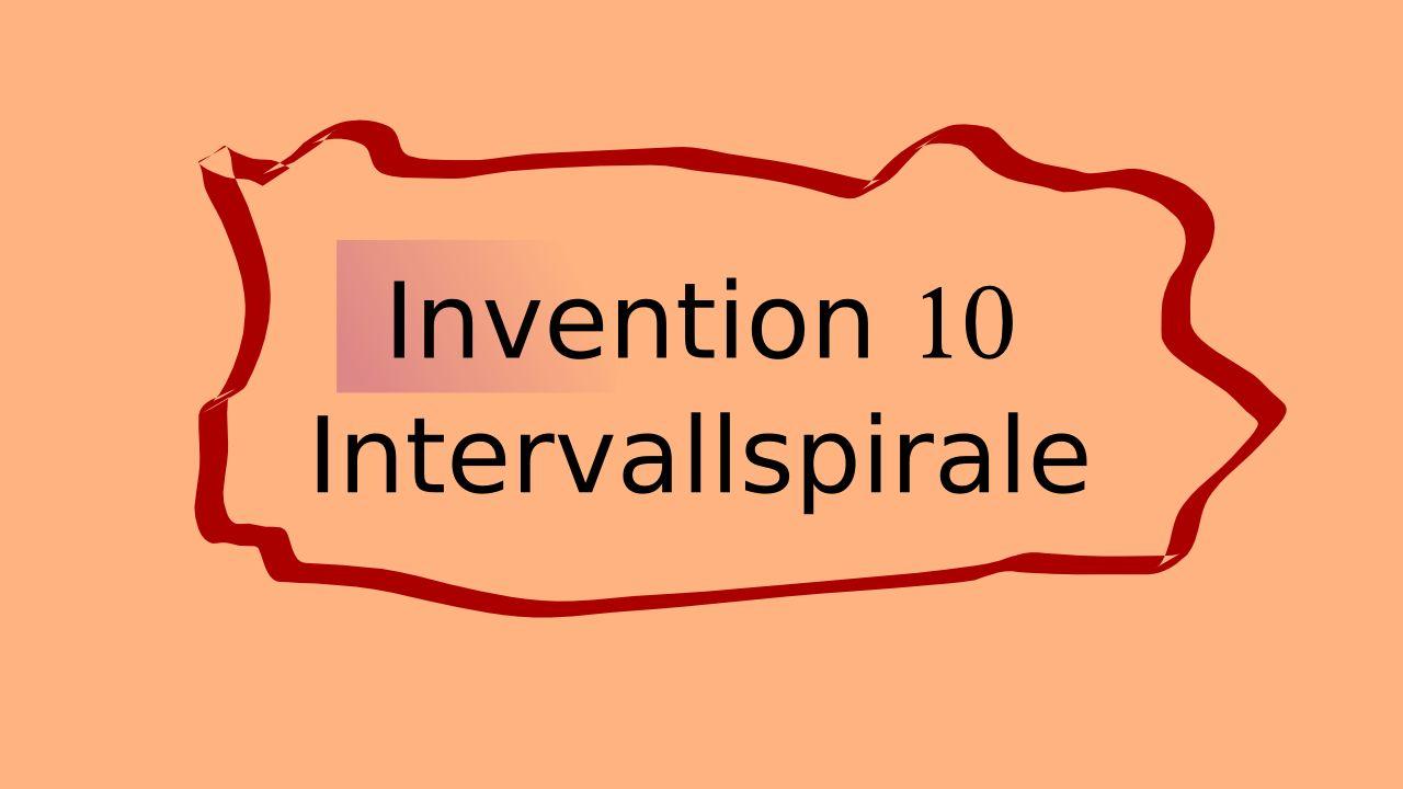 Invention 10 Johann Sebastian Bach dargestellt mit der Intervallspirale