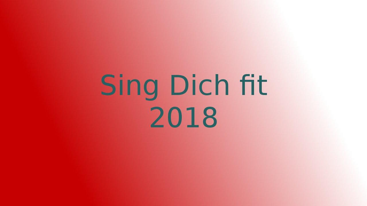 Sing Dich Fit 2018 - Ankündigung und Umfrage