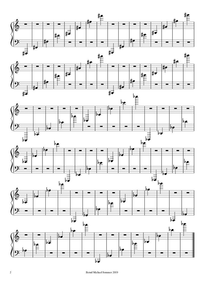 Notenleseübung für das Klavier - Seite 2/2 - Dr. Bernd Michael Sommer - MUSIK IST MEHR